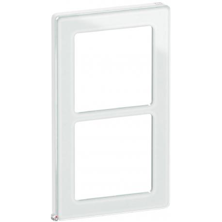 Fuga Pure designramme glas 2M hvid