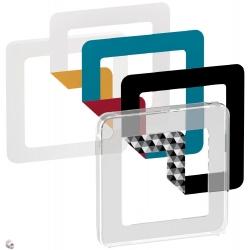 Fuge Wahl-design-Rahmen 1M transparent inklusive 6 Farben zur Auswahl