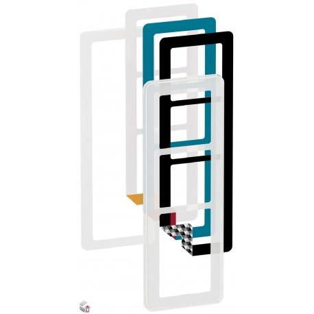 Fuga Choice designramme 3,5M frosted inklusiv 6 farvevalg