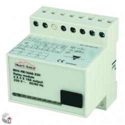 Udgangs modul 8 ( 2x4 ) relæer 230 VAC