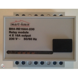 Udgangs Modul 4 seperate relæer 230 VAC