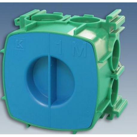 Opus grøn indmuringsdåse 1 modul