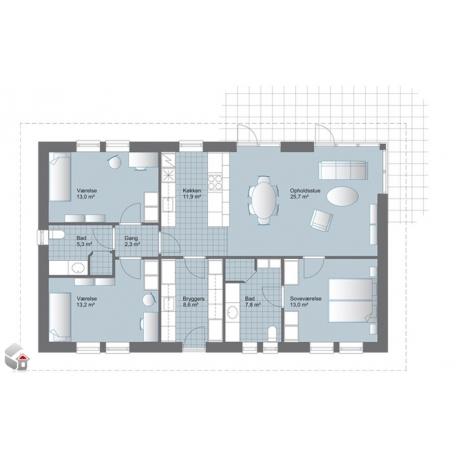 Installations-Beispiel für ein Standard-Haus von 150 – 180m2