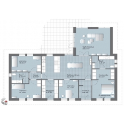 Standart house at 150 – 180m2 Eunica series