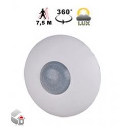 PIR-sensor med indbygget lysmåler til loft