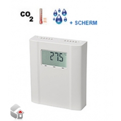 CO2, temperatur og fugtighed sensorer w. Display