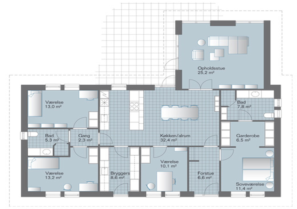 Standart Hus 150-180 m2 - Smart house danmark